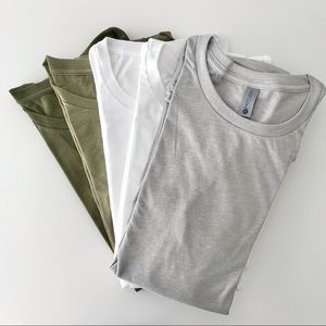 NEW Lot of 5 Crew Neck T-Shirts